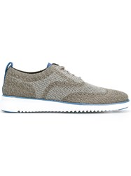 Cole Haan Brogue Detail Lace Up Shoes Grey