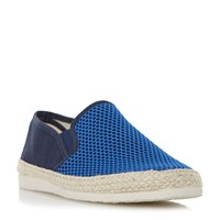 Dune Finchley Mesh And Canvas Espadrilles Blue