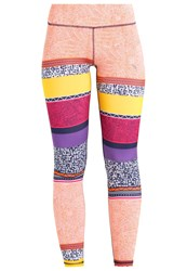 Puma All Eyes On Me Tights Orange Clown Fish Electric Purple