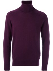 Ami Alexandre Mattiussi Turtleneck Jumper Pink Purple