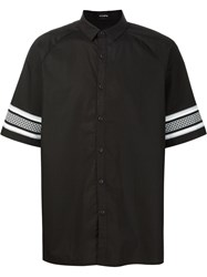 Stampd Printed Cuff Shirt Black