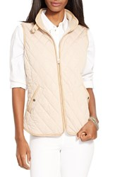 Women's Lauren Ralph Lauren Faux Leather Trim Vest