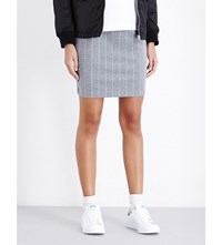 Chocoolate Pinstriped Stretch Jersey Skirt Grey Pinstripe