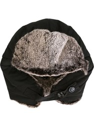 Woolrich Fur Lined Trapper Hat Black