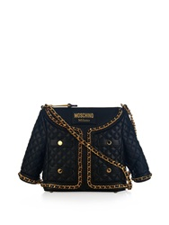 Moschino Jacket Shaped Quilted Leather Cross Body Bag