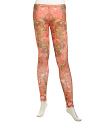Mcq By Alexander Mcqueen Mcq Alexander Mcqueen Floral Print Stretch Ponte Pants Pink Brown
