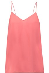 Halston Heritage Silk Blend Crepe De Chine Camisole Antique Rose