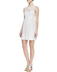 Oonagh By Nanette Lepore Delicate Crochet Overlay Dress