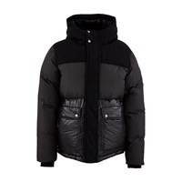 Woolrich Intarsia Mountain Padded Jacket Black