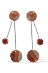 Pamela Love Large Satellite Silver Jasper Earrings Bronze