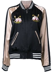 G.V.G.V. Embroidered Bomber Jacket Black