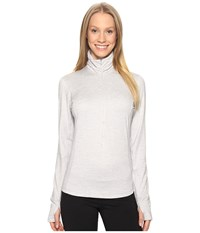 Brooks Dash 1 2 Zip Heather Sterling Women's Long Sleeve Pullover White