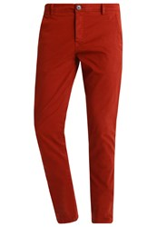 Selected Homme Shhoneluca Chinos Fired Brick Dark Red