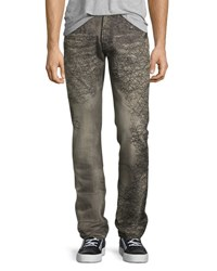 Prps Demon Scribbled Detail Relaxed Slim Jeans Gray