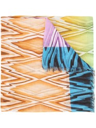 Missoni Zig Zag Patterned Scarf Multicolour