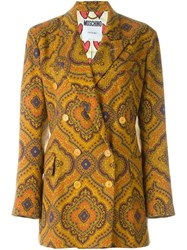 Moschino Vintage Ethnic Print Jacket Multicolour