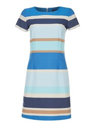 Gant Pastel Shift Dress Blue