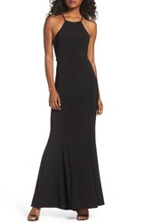 Xscape Evenings Women's Lace And Jersey Mermaid Gown Black