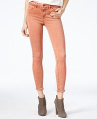 William Rast The Perfect Skinny Burnt Sienna Wash Ripped Jeans
