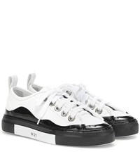 N 21 Leather Sneakers White