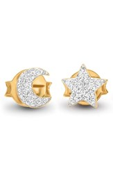 Missoma Pave Moon And Star Stud Earrings Gold