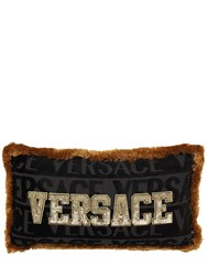 Versace Logomania Medusa Pillow Black