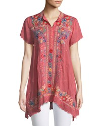 Johnny Was Mikones Embroidered Tunic Passion Fruit