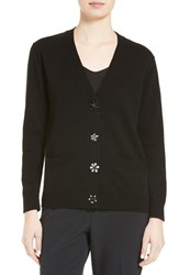 Kate Spade Women's New York Embellished Button Wool Blend Cardigan