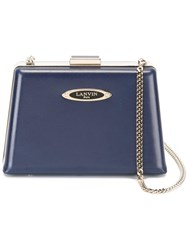 Lanvin Compact Angular Crossbody Bag Blue
