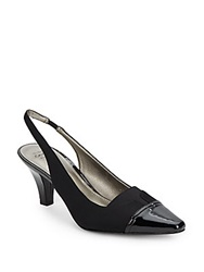 Circa Joan And David Ameka Cap Toe Slingback Pumps Black