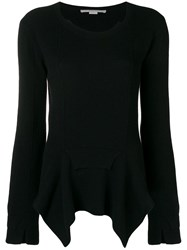 Stella Mccartney Asymmetric Hem Jumper Black