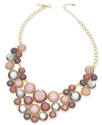Inc International Concepts Gold Tone Multicolor Crystal Bib Necklace Only At Macy's