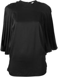 Adidas Slvr Pleated Blouse Black