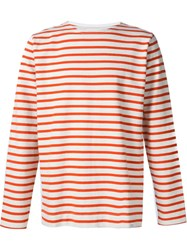 Norse Projects Striped T Shirt Yellow And Orange