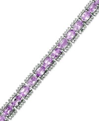 Victoria Townsend Amethyst 12 5 8 Ct. T.W. And Diamond Accent Tennis Bracelet In Sterling Silver