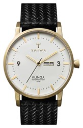 Men's Triwa 'Klinga' Leather Strap Watch 38Mm