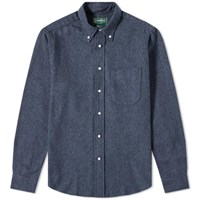 Gitman Brothers Vintage Cotton Tweed Shirt Blue