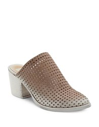 Dolce Vita Kelso Slip On Leather Mules Light Taupe