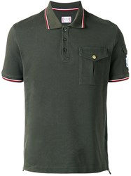 Moncler Gamme Bleu Pocket Polo Shirt Green