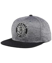 Mitchell And Ness Brooklyn Nets Space Knit Snapback Cap Gray Heather