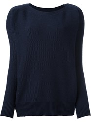 Woolrich Boat Neck Jumper Blue