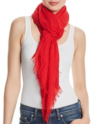 Fraas Solid Oblong Scarf Red