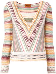 Missoni Patterned Plunge Top