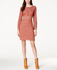 Studio M Textured Print A Line Dress