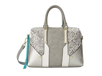 Steve Madden Blogan Snake Trim Satchel Grey Satchel Handbags Gray
