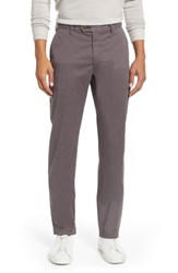 Ted Baker London Selebtt Slim Fit Stretch Cotton Chinos Charcoal