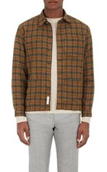 Brooklyn Tailors Men's Checked Lambswool Shirt Jacket No Color