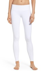 Alo Yoga Women's 'Airbrushed' Glossy Leggings White Reflective Chakra