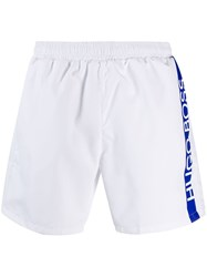 Hugo Boss Logo Swim Shorts White