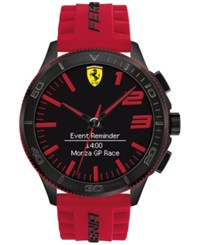 Ferrari Men's Analog Digital Scuderia Xx Ultraveloce Red Silicone Strap Smart Watch 48Mm 0830376 Black Red